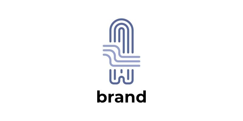 Letter A Line Logo