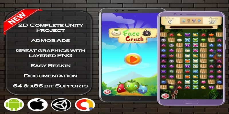 Face Crush Complete Unity Project