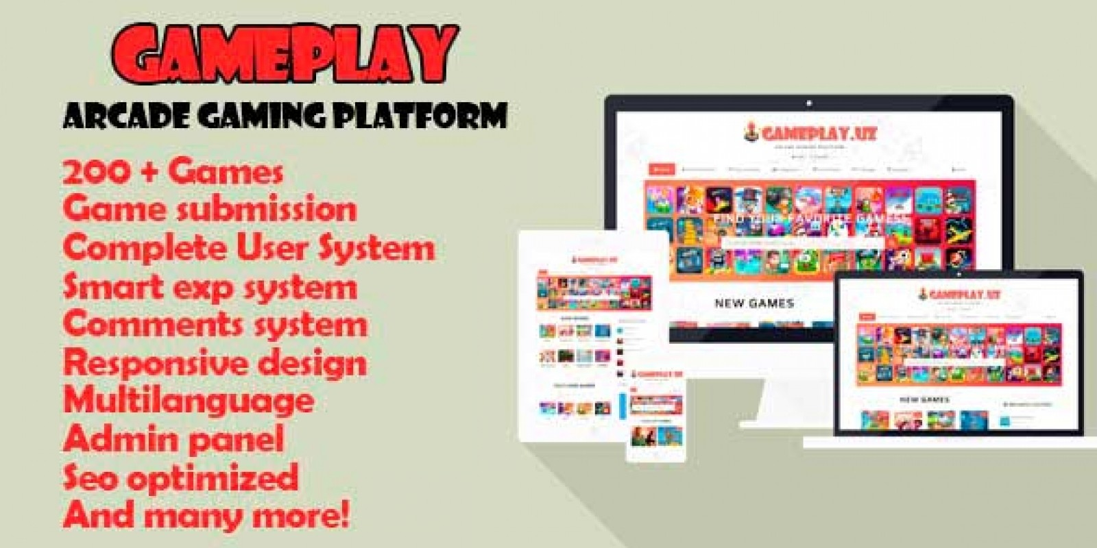 Gameplay - Responsive Arcade Gaming Platform Scrip