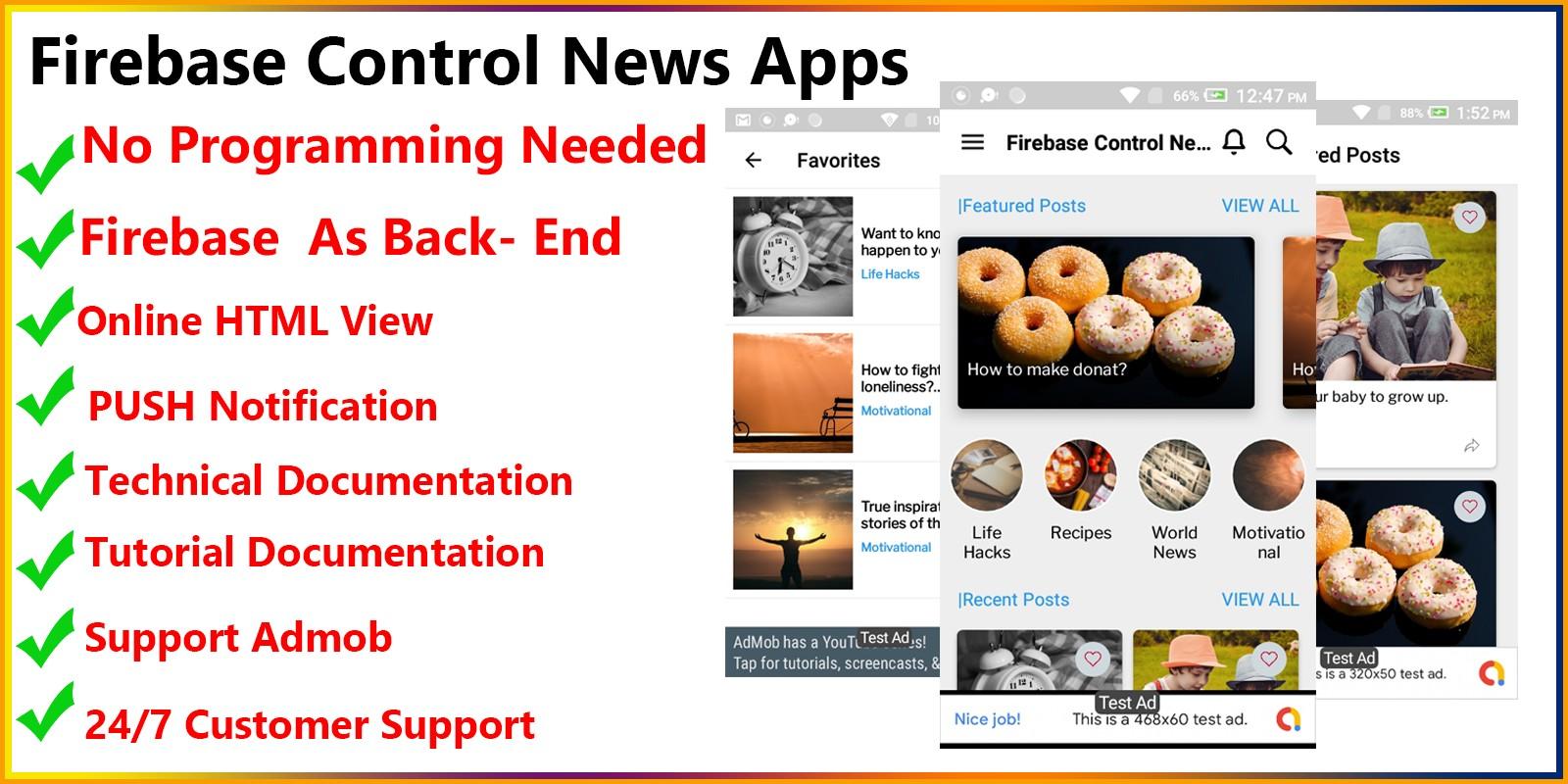 Firebase Control News App - Android Studio