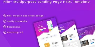 Nilo - Multipurpose Landing Page HTML Template