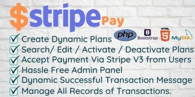Stripe Pay - Create Dynamic Plan and Accept Paymen
