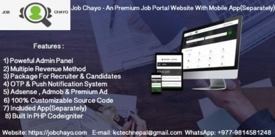 Job Chayo - An Job Portal Website With App