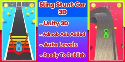 Sling Stunt Car 3D Game Unity Source Code