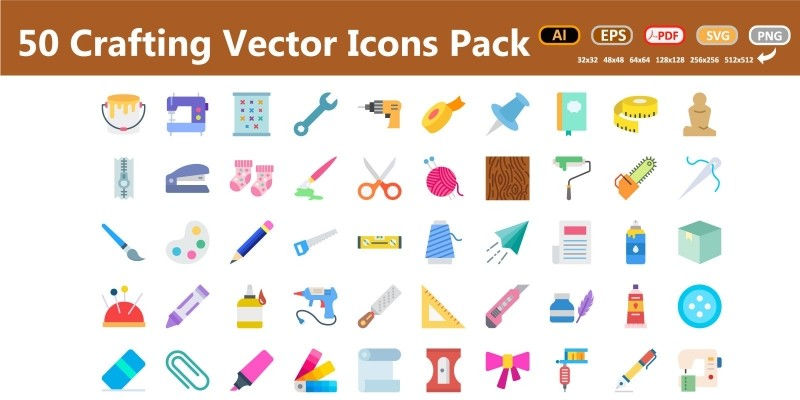 Art And Craft Vector Icons Pack