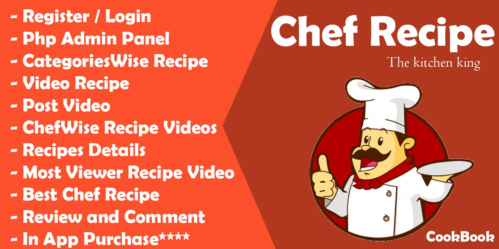 Chef Recipes - Android App With Admin Panel