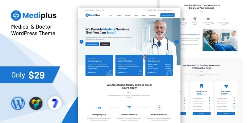 Mediplus - Medical and Doctor WordPress Theme