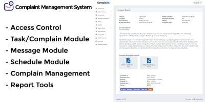 Komaplaint - Online Complaint Management System