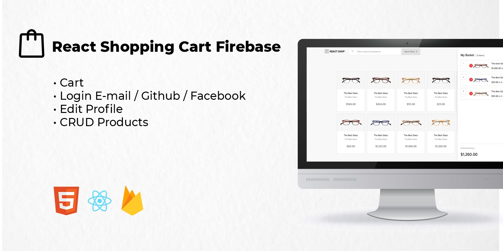 React Shopping Cart Firebase