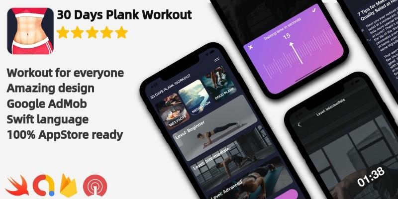 Plank Workout - iOS Workout Application