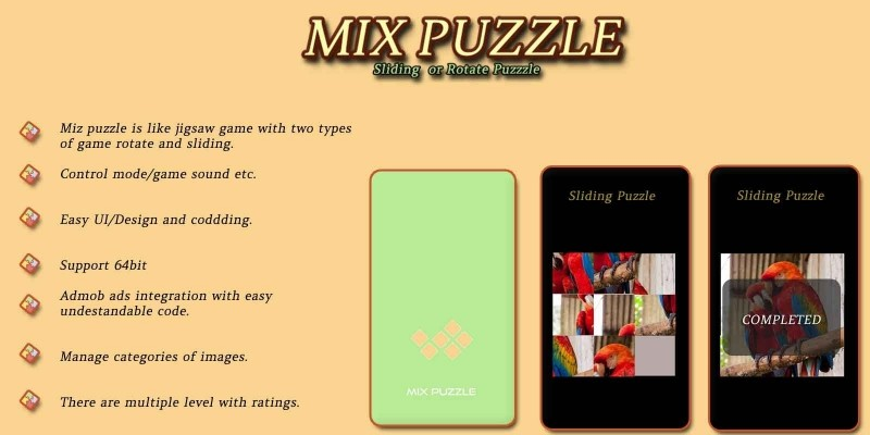 Mix Puzzle - Android App Template