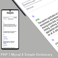 PHP Search form - Dictionary