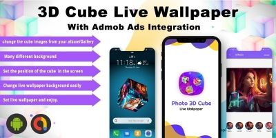 Android 3D Photo Cube Live Wallpaper