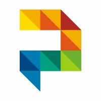 Polygon Colorful P Letter Logo