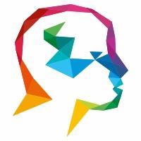 Human Polygon Colorful Logo