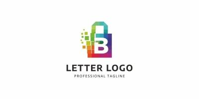 B Letter Colorful Logo