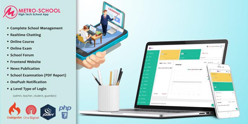 Metro School Manager - PHP Script