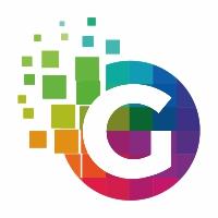 G Letter Colorful Pixel Logo