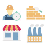 Industrial and Construction Vector Icons