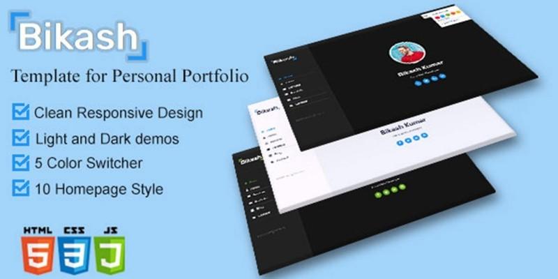 Bikash – Creative Personal Portfolio Template