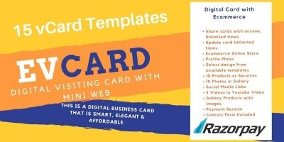 Digital Visiting Card PHP Script