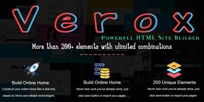 Verox - Powerful HTML Site Builder