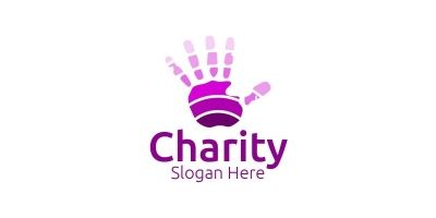 Charity Hand Love Logo Design