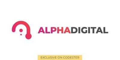 Alphadigital Logo Template