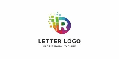 R Letter Colorful Logo