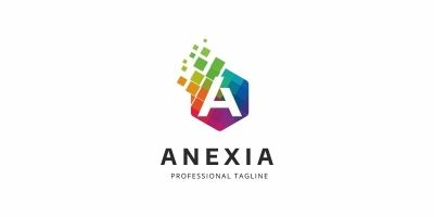 Anexia A Letter Colorful Logo