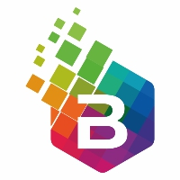 B Letter Colorful Logo