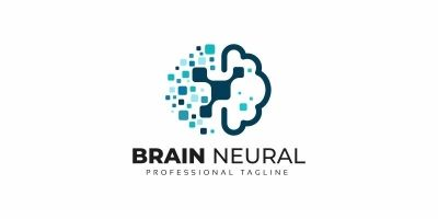 Brain Digital Logo