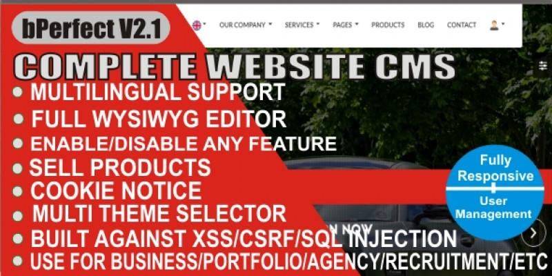 Website CMS - Bperfect Multipurpuse Website Script