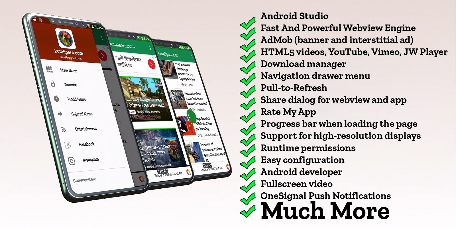 Any Webview Android App With Admob