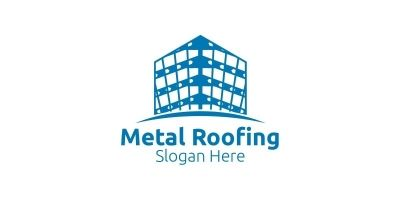 Real Estate Metal Roofing Logo
