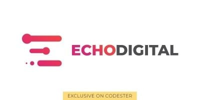 Echodigital Logo Template