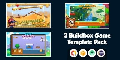 3 Buildbox Game Template Pack