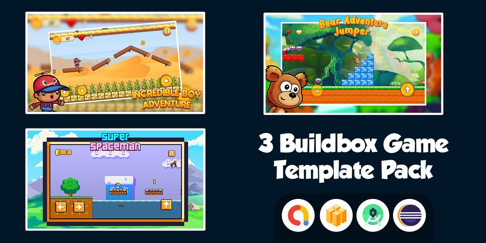 3 Buildbox Game Template Pack