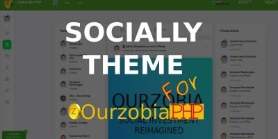 Socially Theme For Ourzobia PHP