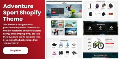 Shopify Adventure Sports Theme