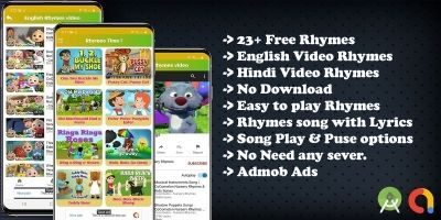 Kids Nursery Rhymes Song Android App Template