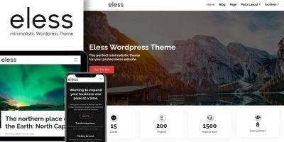 Eless - minimalistic Wordpress Theme