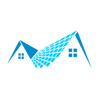 Real estate Shingles Roofing Logo