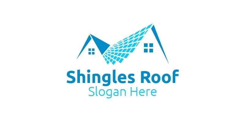 Real estate Shingles Roofing Logo