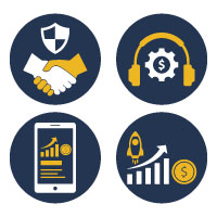 Business Advertising Vector Icons with Different s