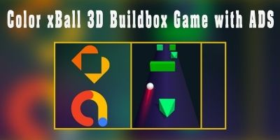 Color xBall 3D Buildbox Game with Ads