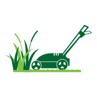Lawn Mower Logo for Lawn Mowing Gardener Design