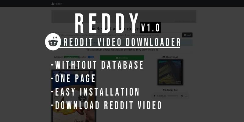 Reddy - Reddit Video Downloader - PHP Script