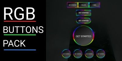 RGB Buttons Pack CSS