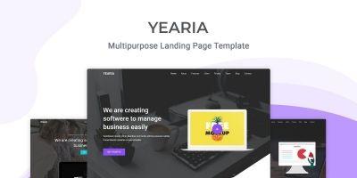 Yearia - Multipurpose Landing Page Template